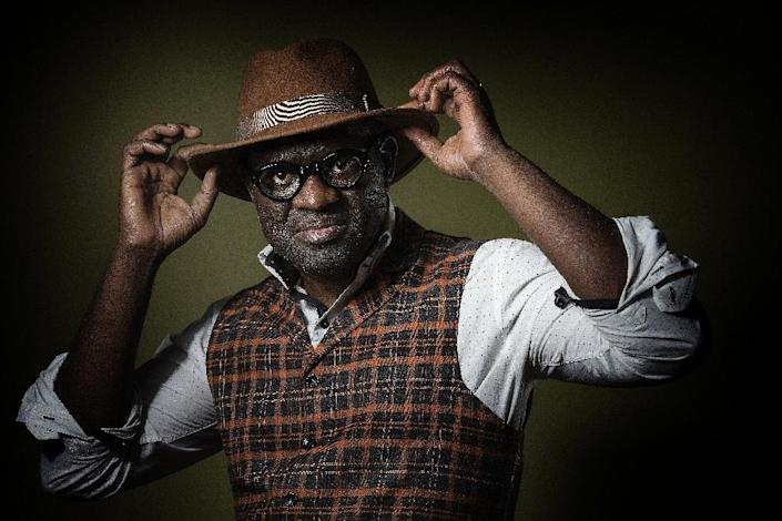 """""""But I am happy that literature has also recognised the lyric, in the poetic sense of the term,"""" said Alain Mabanckou (AFP Photo/Joel Saget)"""