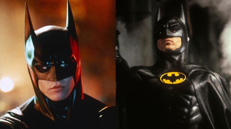 Val Kilmer and Michael Keaton both played Batman on the big screen. (Credit: Warner Bros)