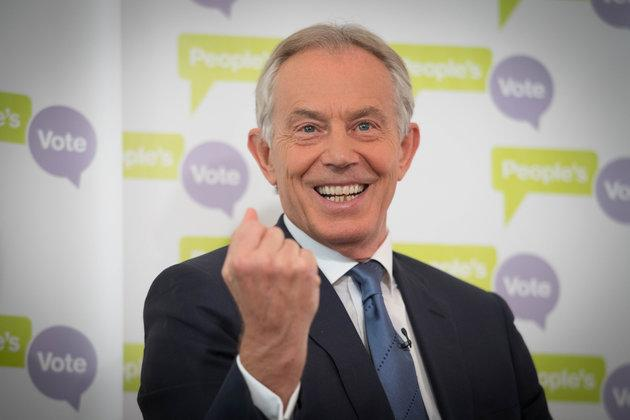 Theresa May has hit out at Tony Blair, who has been calling for her to back a second referendum