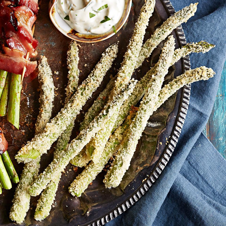 <p>This cheesy and crispy asparagus dish is the perfect accompaniment to any meal.</p>