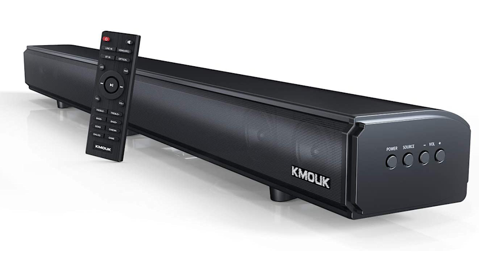 The Kmouk Soundbar helps you hear it the first time! (Photo: Amazon)