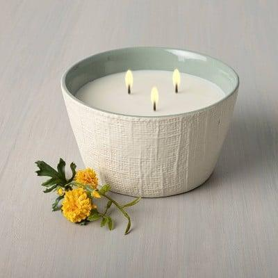<p><span>Meadow 3-Wick Large Textured Ceramic Candle</span> ($20)</p>