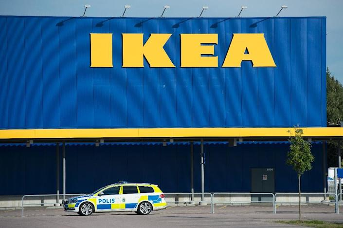 The poll result may also have been affected by dramatic events in Sweden: the survey was conducted August 14-17, just days after two Eritrean refugees were arrested as suspects in the fatal stabbing of two shoppers at an Ikea store (AFP Photo/Jonathan Nackstrand)