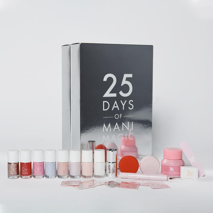 """A manicure-themed Advent calendar for mom? Genius. It comes with travel-sized versions of nail-care essentials (a file, cuticle oil, buffer, polish remover), plus seven mini polish bottles. $50, Olive & June. <a href=""""https://oliveandjune.com/products/advent-calendar"""" rel=""""nofollow noopener"""" target=""""_blank"""" data-ylk=""""slk:Get it now!"""" class=""""link rapid-noclick-resp"""">Get it now!</a>"""