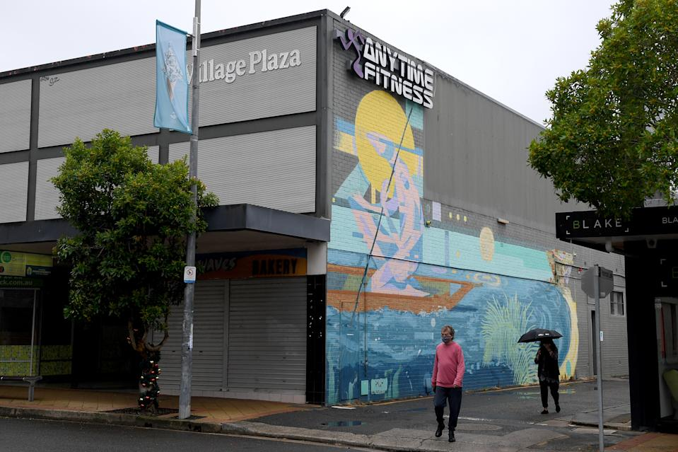 The Anytime Fitness gym is seen in Avalon on Sydney's Northern Beaches.