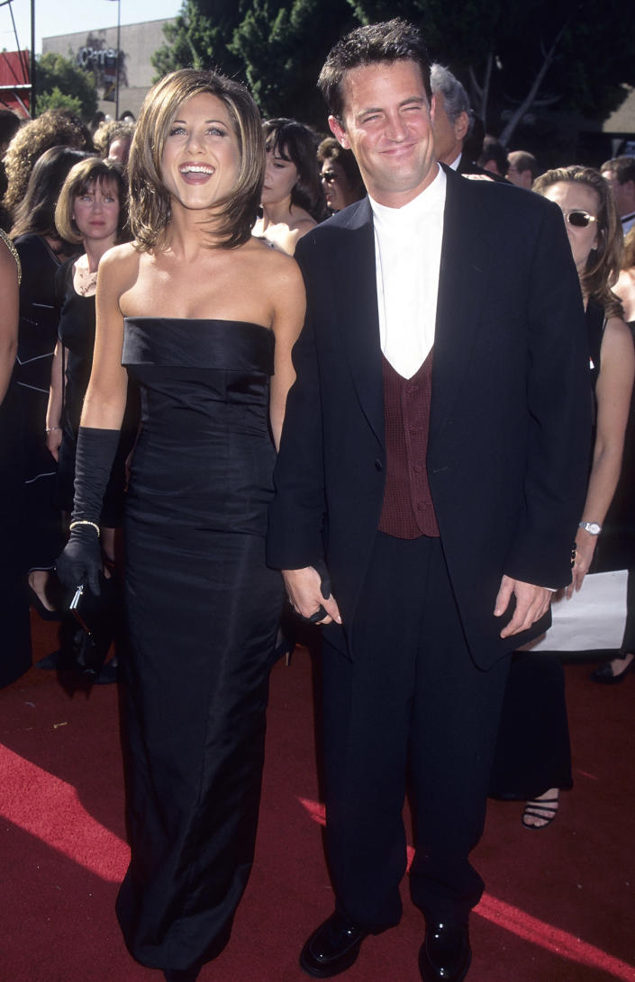 Jennifer Aniston and actor Matthew Perry (Ron Galella / Getty Images)