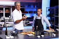 <p>In 2013, Bourdain was producer and judge on the ABC cooking competition <em>The Taste</em>. Here, he films an episode of <em>The Taste</em> on September 24, 2013.</p>
