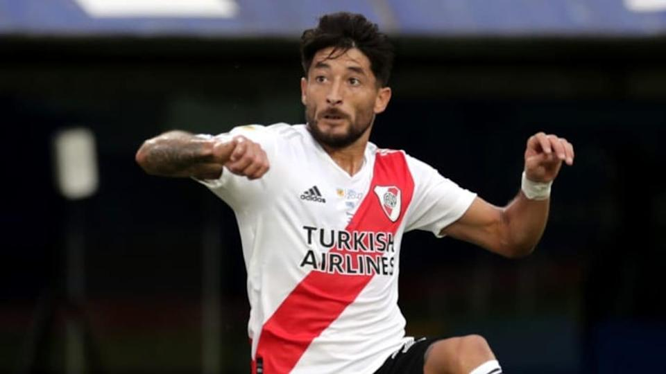 Milton Casco derrochando talento en River | Pool/Getty Images