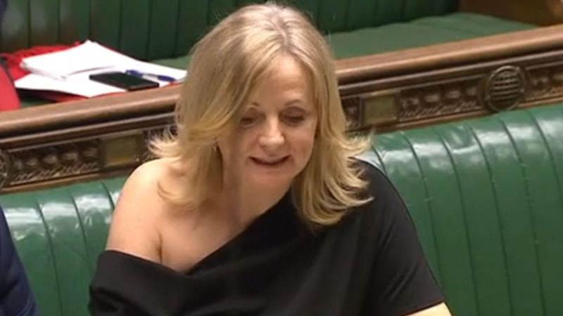 The dress slipped off Tracy Brabin's shoulder at the despatch box