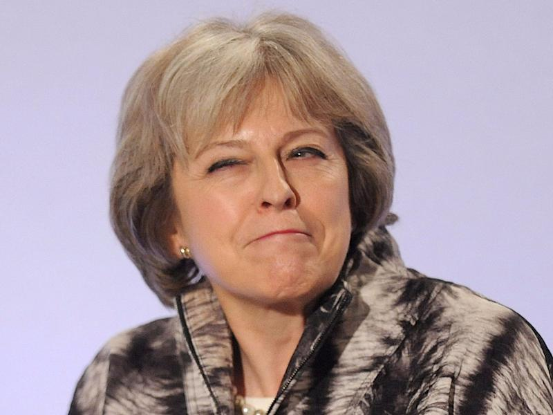 theresa may british prime minister happy
