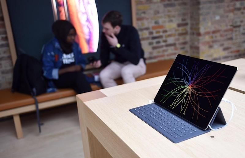 General view of the Apple Covent Garden re-opening and iPhone XR launch at Apple store, Covent Garden: Stuart C. Wilson/Getty Images