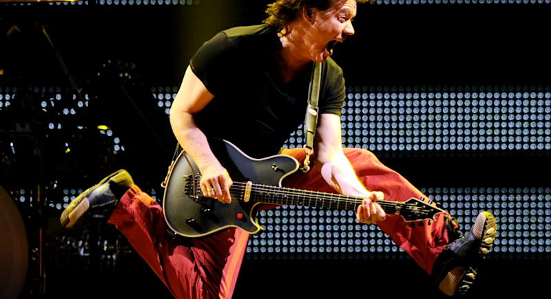 Eddie Van Halen au Forum, 2012 © Kevin Winter/Getty Images/AFP