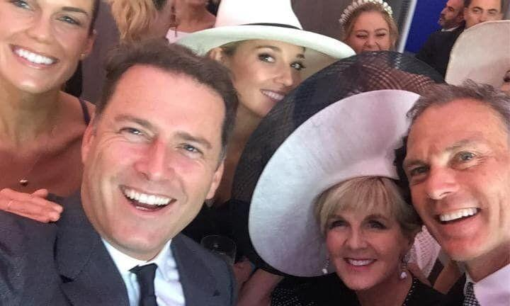 The pair's friendship saw them attend Melbourne's Derby Day with their respective partners in 2017. Photo: Instagram