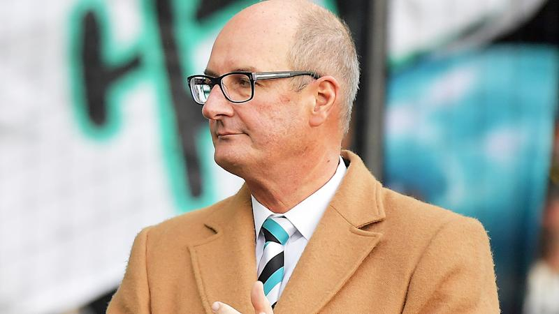 Port Adelaide chairman David Koch is pictured at a 2019 AFL match.