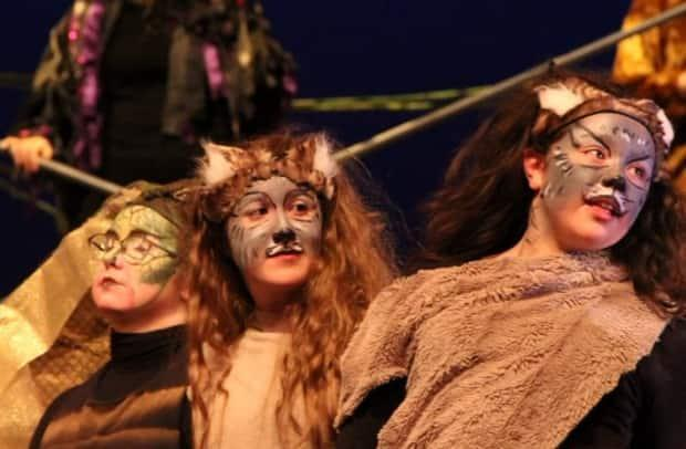 Charlotte, centre, in a production of Jungle Book.