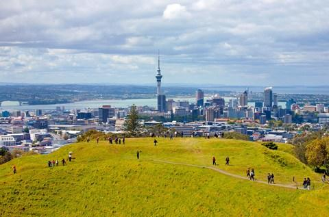 Auckland with Sky Tower from Mount Eden - Credit: Getty