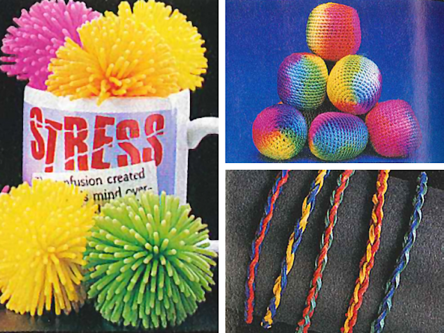 Koosh balls, knitted kick balls, and friendship bracelets were all items you could buy from Oriental Trading. (Photo: Courtesy of Oriental Trading)