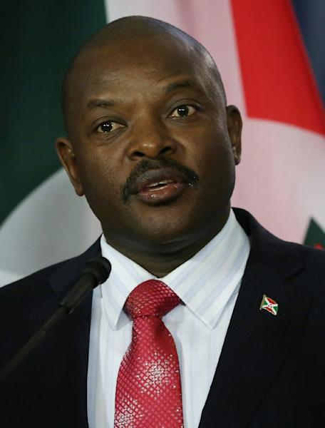 President of Burundi Pierre Nkurunziza has come under intense international pressure to withdraw from next month's election (AFP Photo/Alex Wong)