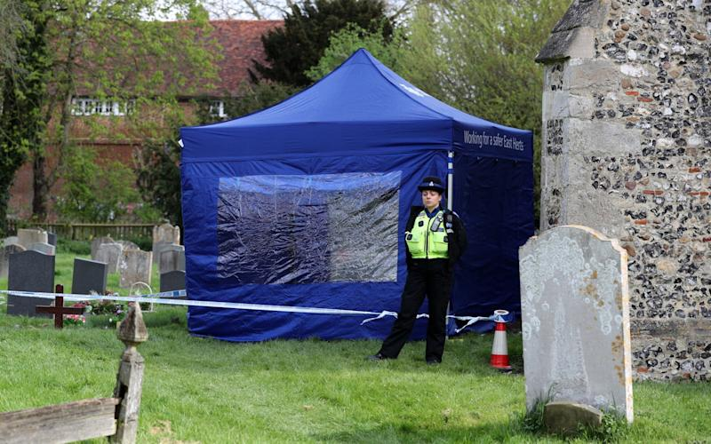 Police are baffled by the discovery of human remains  - Credit: PA