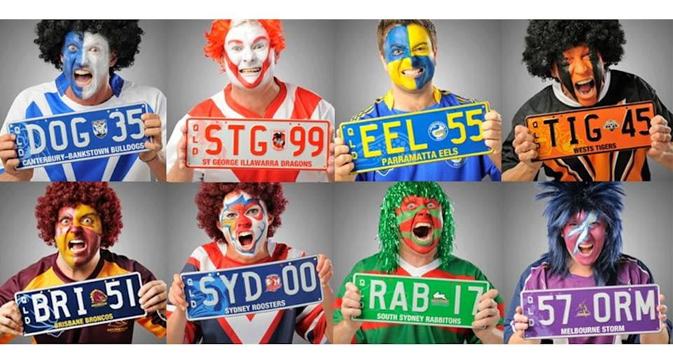 The decorative plates will be similar to those allowing drivers to support their favourite footy team. Source: PPQ Personalised Plates Queensland