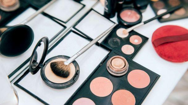 PHOTO: Makeup and brushes are seen in this stock photo. (STOCK PHOTO/Getty Images)