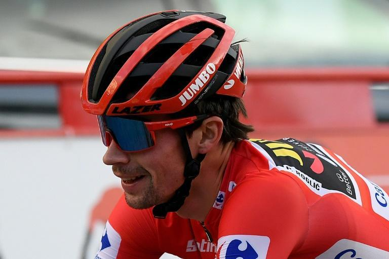 Primoz Roglic traded the Vuelta's red jersey with Richard Carapaz since the opening stage