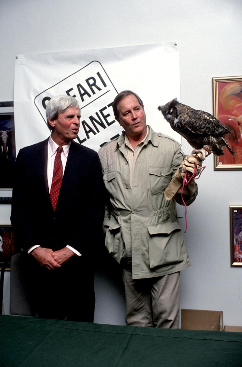 "Jim Fowler, who co-hosted Mutual of Omaha's ""Wild Kingdom"" with Marlin Perkins and was a frequent guest on ""The Tonight Show,"" died on May 8, 2019. He was 89."