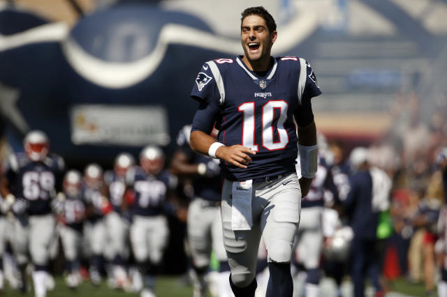 On Monday, Oct. 30, 2017, the Patriots traded Garoppolo to the San Francisco 49ers for a 2018 draft pick. (AP Photo/Michael Dwyer, File)