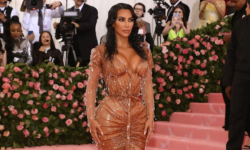 Kim Kardashian attended the 2019 Met Gala in a corseted dress - Thierry Mugler's first design in over 20 years [Photo: Getty]