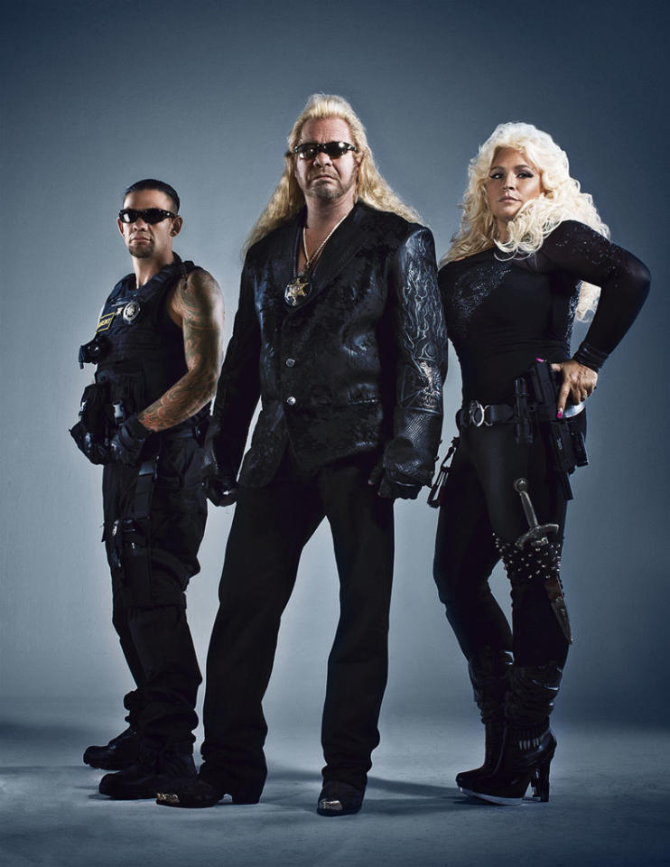 "The world's most renowned bounty hunters, Dog and Beth Chapman, return to television in an all-new CMT series, ""Dog and Beth: On the Hunt."" Dog and Beth, joined by their son Leland, will step outside their headquarters in Hawaii to unite with bail bondsmen from around the country as they hunt down some of America's most dangerous criminals."