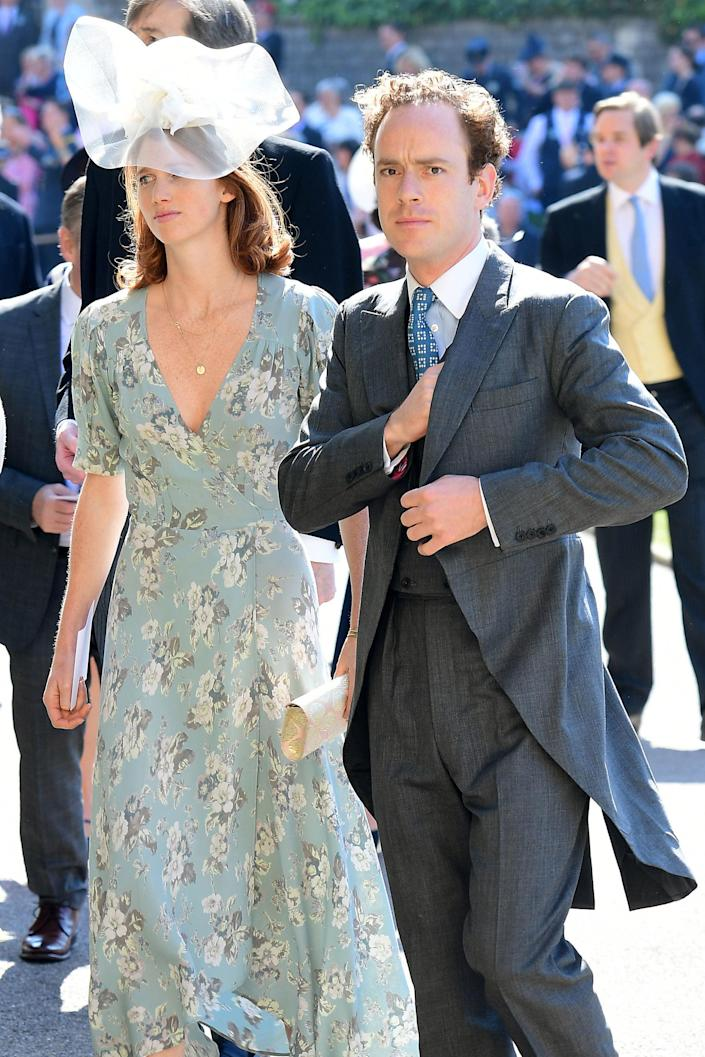 """The prince's confidant - regularly called """"Skippy"""" - attended the 2018 nuptials with his wife Lara. (Getty Images)"""