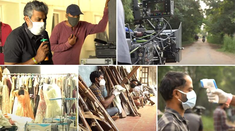 RRR Movie Update: SS Rajamouli and Crew Are Back On Their Extravagant Set, Start The Shoot With 'Double Grit' (Watch Video)
