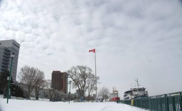 A winter snowfall in Windsor is shown in a file photo. Environment Canada says five centimetres are in the forecast for Tuesday night. (Jennifer La Grassa/CBC - image credit)