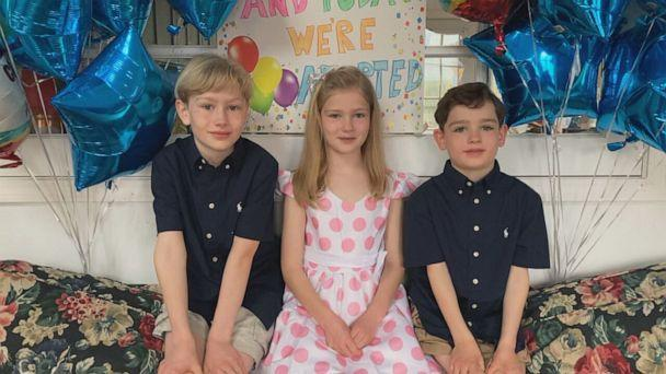 PHOTO: Three siblings Jonathan, 10, Madeline, 8, and Benjamin, 6, pictured. (ABC)