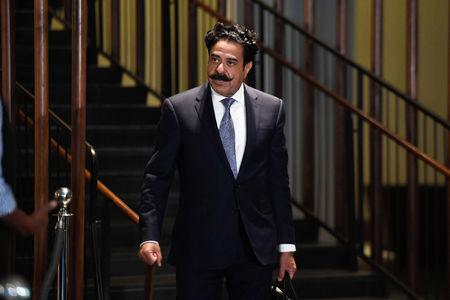 FILE PHOTO: Oct 18, 2017; New York, NY, USA; Jacksonville Jaguars owner Shahid Khan at the Conrad Hotel after the NFL owners meeting. Mandatory Credit: Catalina Fragoso-USA TODAY Sports - 10354192/File Photo