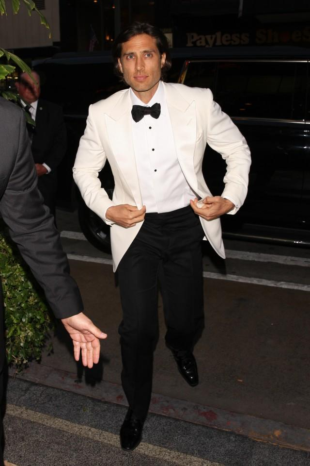 Brad Falchuk at his engagement party