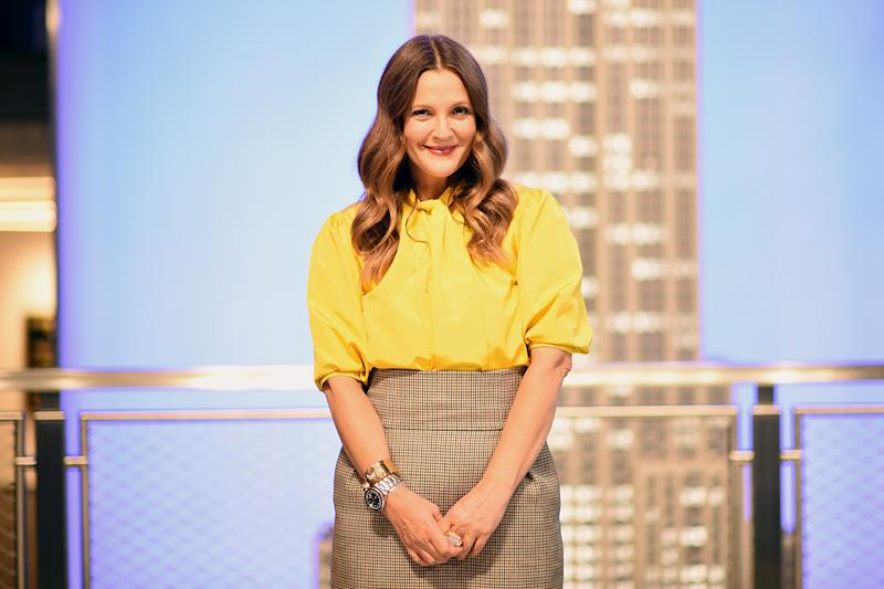 "NEW YORK, NEW YORK - SEPTEMBER 14: Drew Barrymore celebrates the Launch of The Drew Barrymore Show at The Empire State Building on September 14, 2020 in New York City. (Photo by Dimitrios Kambouris/""Getty Images for Empire State Realty Trust)"