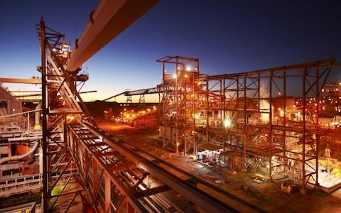 BHP Billiton on February 9, 2012 shows the copper/uranium/gold/silver processing plant near the Olympic Dam mine in South Australia - Credit: AFP