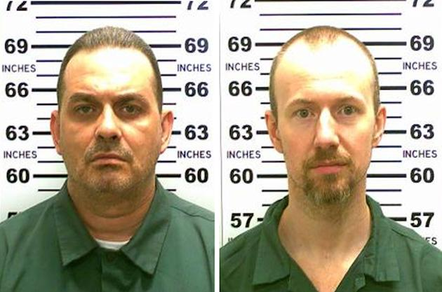 Richard Matt (izq.) y David Sweat escaparon de la cárcel Clinton Correctional Facility en Nueva York. (AFP)