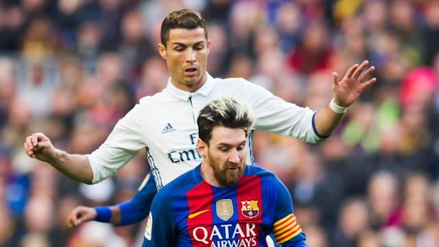 "<a class=""link rapid-noclick-resp"" href=""/soccer/players/cristiano-ronaldo/"" data-ylk=""slk:Cristiano Ronaldo"">Cristiano Ronaldo</a> and <a class=""link rapid-noclick-resp"" href=""/soccer/teams/real-madrid/"" data-ylk=""slk:Real Madrid"">Real Madrid</a> have had the upper hand of the El Clasico rivalry recently, but <a class=""link rapid-noclick-resp"" href=""/soccer/players/lionel-messi/"" data-ylk=""slk:Lionel Messi"">Lionel Messi</a> and <a class=""link rapid-noclick-resp"" href=""/soccer/teams/barcelona/"" data-ylk=""slk:Barcelona"">Barcelona</a> are in danger of running away with La Liga. (Omnisport)"