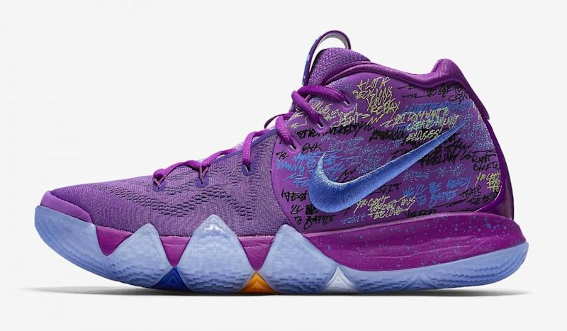 ee008bab0eb1 The Kyrie 4s are a nod to flat-earther beliefs