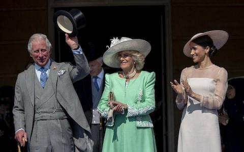 The Prince of Wales acknowledges applause from guests - Credit: Mark Cuthbert