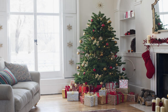 From pre-lit artificial Christmas trees to real firs, we've rounded up the best options available to order online this year [Photo: Getty]