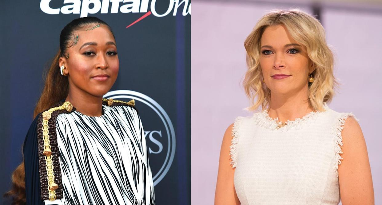 Naomi Osaka and Megyn Kelly spar on Twitter. Photo: Getty Images