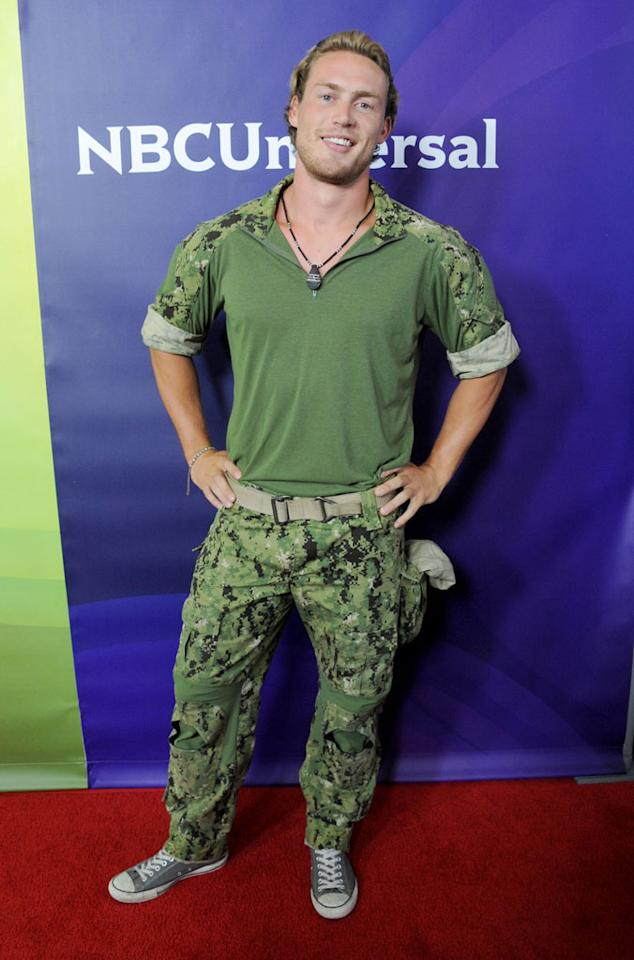 """Grady Powell (""""Stars Earn Stripes"""") arrives at the NBC Universal Summer 2012 Press Tour at The Beverly Hilton Hotel on July 24, 2012 in Beverly Hills, California."""
