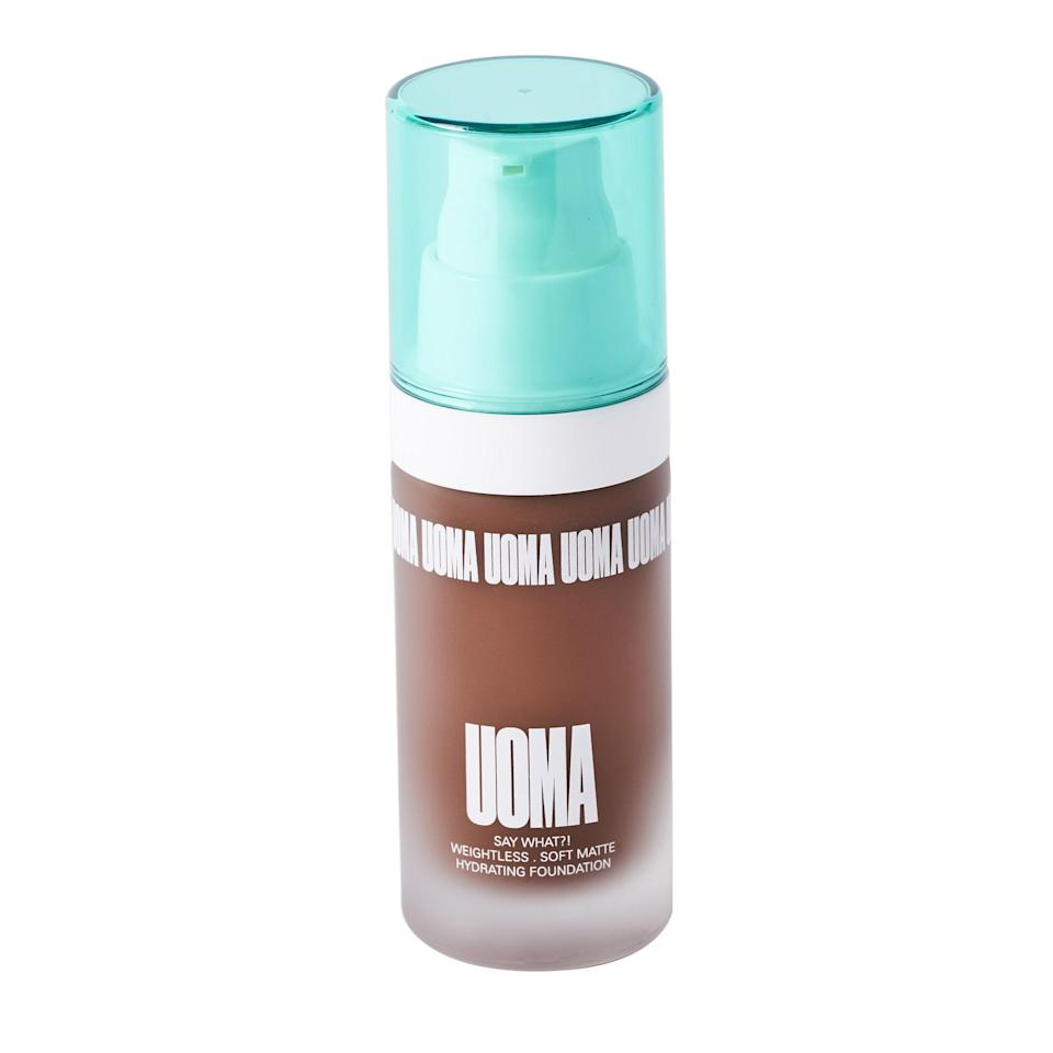 "<p>Yes, UOMA Beauty's Say What?! Foundation is matte, but it's spiked with <a href=""https://www.allure.com/story/what-is-hyaluronic-acid-skin-care?mbid=synd_yahoo_rss"" rel=""nofollow noopener"" target=""_blank"" data-ylk=""slk:hyaluronic acid"" class=""link rapid-noclick-resp"">hyaluronic acid</a> to keep skin hydrated throughout the day. Its creamy texture is a medium-coverage finish in 51 shades — no wonder we gave it a <a href=""https://www.allure.com/story/uoma-beauty-inclusive-makeup-sharon-chuter-interview?mbid=synd_yahoo_rss"" rel=""nofollow noopener"" target=""_blank"" data-ylk=""slk:Best of Beauty Award."" class=""link rapid-noclick-resp"">Best of Beauty Award.</a></p> <p><strong>$39</strong> (<a href=""https://shop-links.co/1725981543883643887"" rel=""nofollow noopener"" target=""_blank"" data-ylk=""slk:Shop Now"" class=""link rapid-noclick-resp"">Shop Now</a>)</p>"