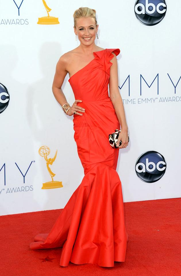 Cat Deeley arrives at the 64th Primetime Emmy Awards at the Nokia Theatre in Los Angeles on September 23, 2012.