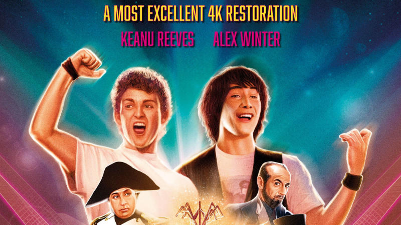 'Bill & Ted's Excellent Adventure' is receiving a brand new 4K restoration. (Credit: Studiocanal)