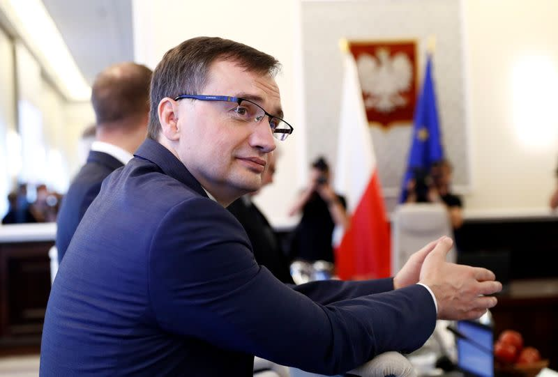 FILE PHOTO: Poland's Minister of Justice Zbigniew Ziobro attends a government meeting in Warsaw