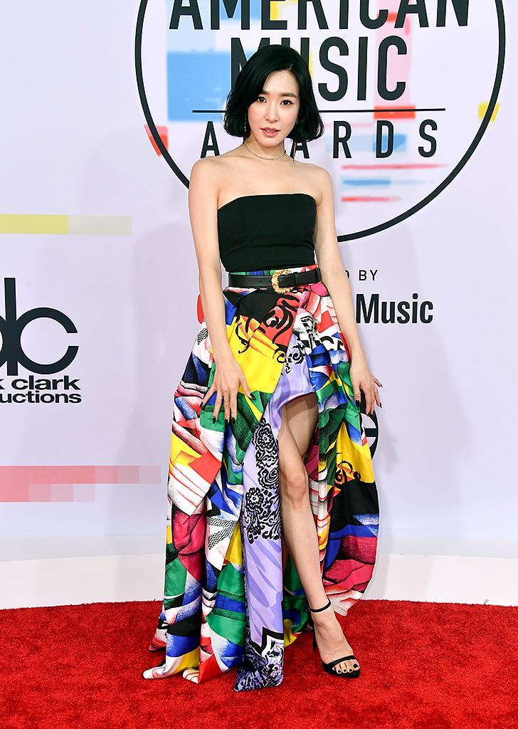 <p>Tiffany Young attends the 2018 American Music Awards at Microsoft Theater on Oct. 9, 2018, in Los Angeles. (Photo: Frazer Harrison/Getty Images) </p>